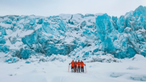 The Climate Sentinels, happy after completing their journey across Svalbard